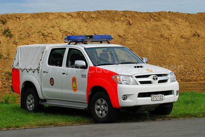 A Toyota Hilux 3.0 car, used by the Belgian Service of Dismantling and Destruction of Explosives (the Explosive Ordnance Disposal or DOVO).