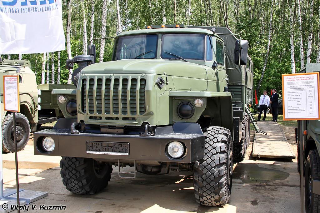 Специальное транспортное средство Скорпион СБА-56 на базе Урал-4320 (Armored truck Skorpion SBA-56 on Ural-4320 base)