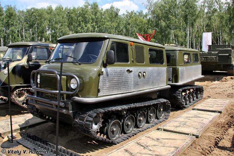 Двухзвенный гусеничный транспортер ЗВМ-3402П-П Унжа (Two-section tracked carrier ZVM-3402P-P Unzha)