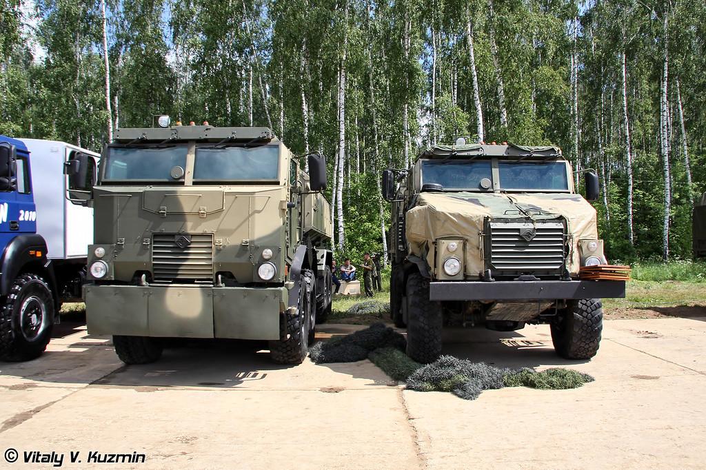 Опытные образцы защищенных автомобилей Урал-532341-1010 и Урал-4320-0010-31 (Ural-532341-1010 and Ural-4320-0010-31 armored trucks prototypes)