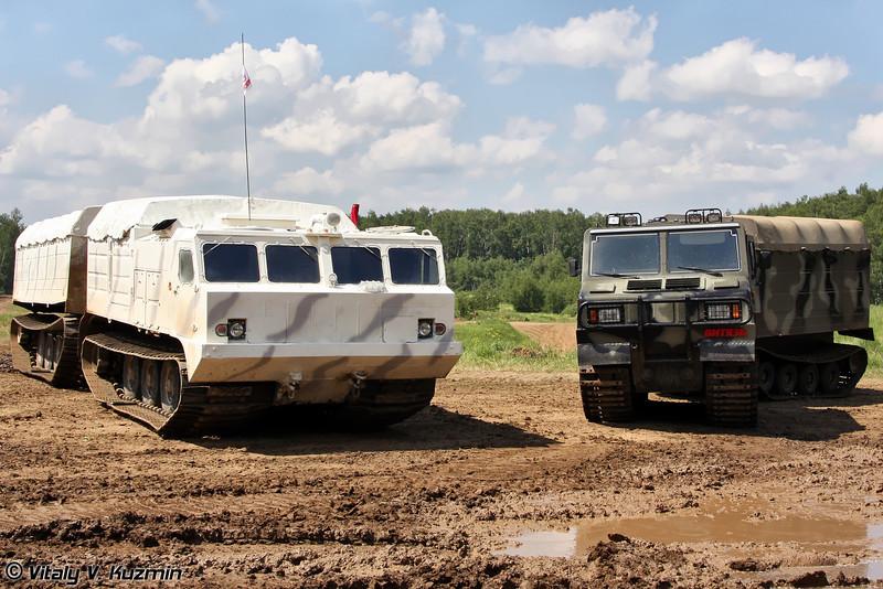 Двухзвенные гусеничные транспортеры ДТ-10П и ДТ-3П (DT-10P and DT-3P carriers)