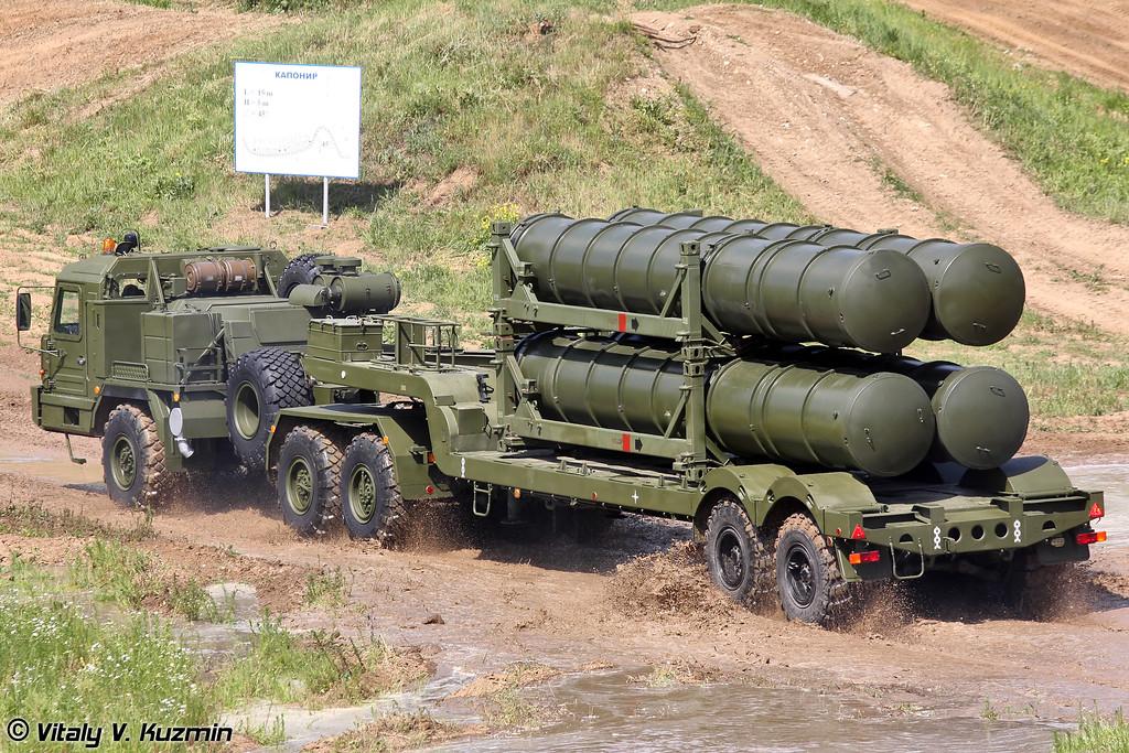 Транспортная машина 5Т58-2 на шасси БАЗ-6402-015 из состава ЗРС С-400 (5T58-2 transport vehicle on BAZ-6402-015 chassis for S-400 system)