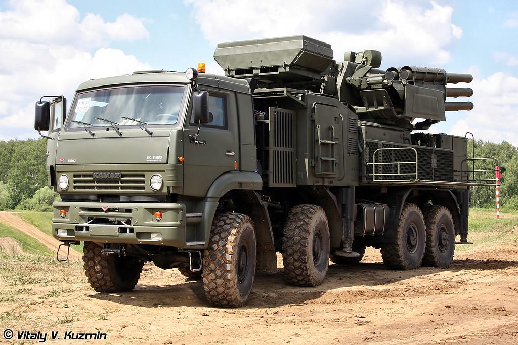 ЗРПК 96К6 Панцирь-С1 на шасси КАМАЗ-6560 (96K6 Pantsir-S1 on KAMAZ-6560 chassis)