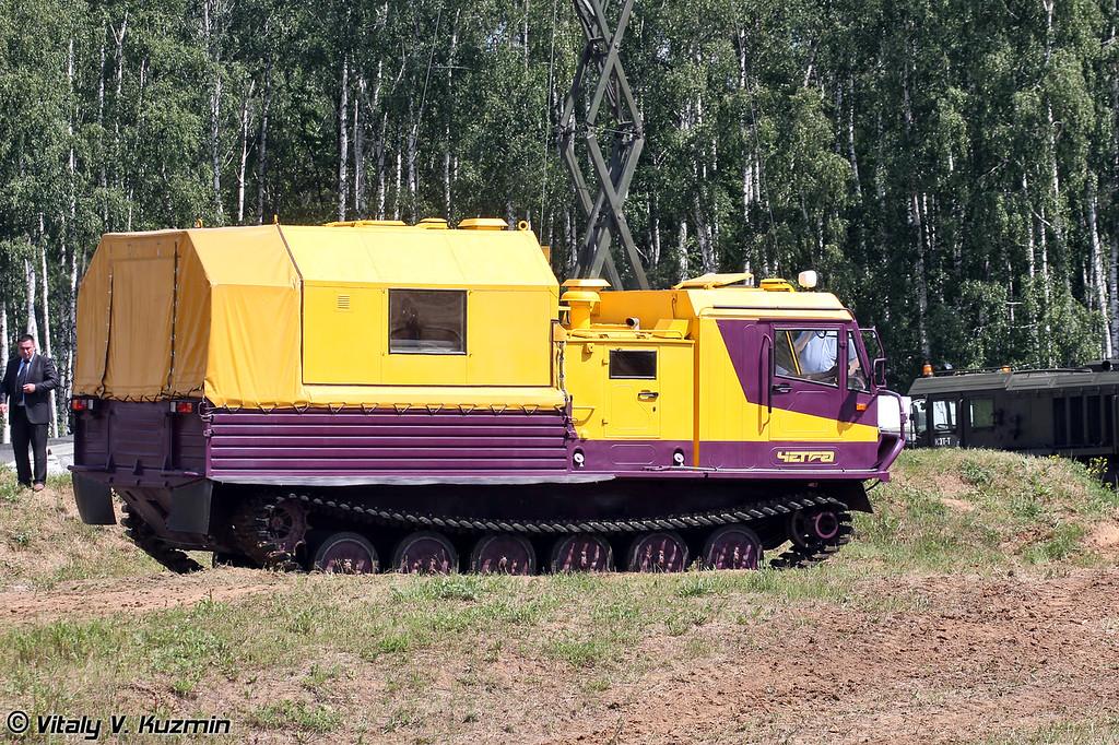 Гусеничная плавающая транспортная машина ТМ-130 Четра (Tracked vehicle TM-130 Chetra)