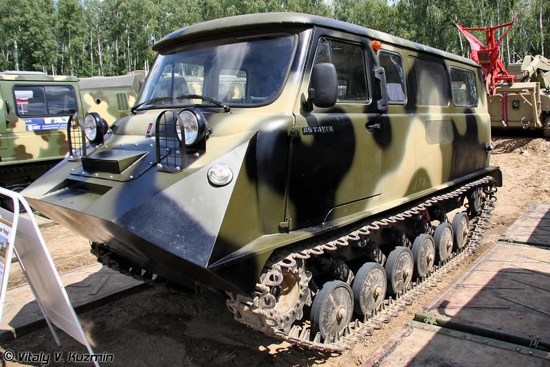 Гусеничный однозвенный вездеход ТТС-34012 Ветлуга (Tracked carrier TTS-34012 Vetluga)