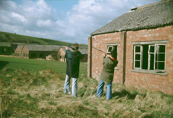 Myself and my old school friend shooting in 1978