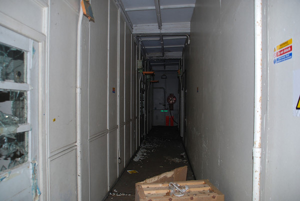 Corridor leading to intercept cabin 2