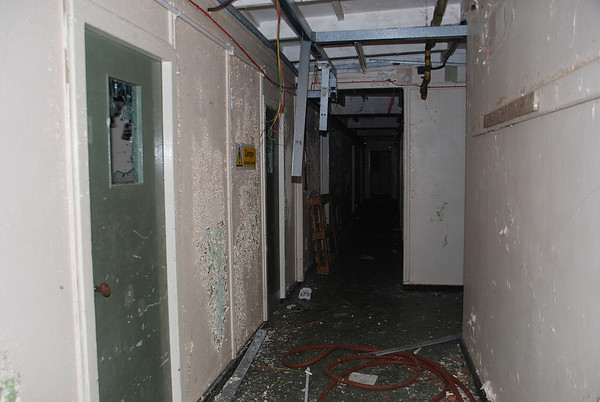 Corridor leading to the rest room