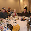 Dracut Rotary holds its second annual Veterans Appreciation Luncheon, at Lenzi's. From left, Army veteran Norm Hall of Dracut, Army veteran Andy Ouellette of Dracut, Rotary member Louann Jendro of Dracut, Army veteran George LaBranche of Hookset, N.H., and Army infantry veteran Matt Elkins of Lowell. (SUN/Julia Malakie)