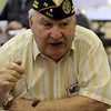 Dracut Council on Aging holds monthly Veterans Breakfast at the Dracut Senior Center, for veterans, their families, and those interested in veterans' affairs. John King of Lowell, chaplain with the DAV Chapter 25.(SUN/Julia Malakie)
