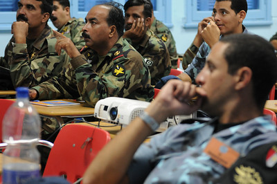 091013-N-0260R-054 - ALEXANDRIA, Egypt - Sailors from the Pakistani and Egyptian Navies listen as Sailors from Explosive Ordinance Disposal Mobile Unit 3 provide a class on detecting Improvised Explosive Devices (IED's).  The training was conducted as part of Bright Star 2009. Bright Star is a multinational exercise designed to improve readiness, interoperability, strengthen the military and professional relationships among U.S., Egyptian and participating forces. Bright Star is conducted by U.S. Central Command and held every two years. (U.S. Navy photo by Mass Communication Specialist 1st Brandon Raile/Released)