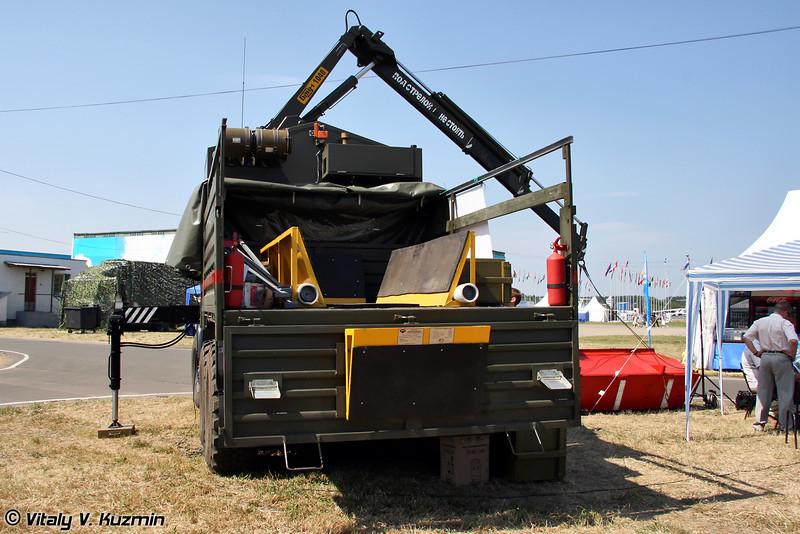 Специальный автомобиль сбора и транспортировки боеприпасов Скарабей (Special purpose ammunition handling vehicle Skarabey)
