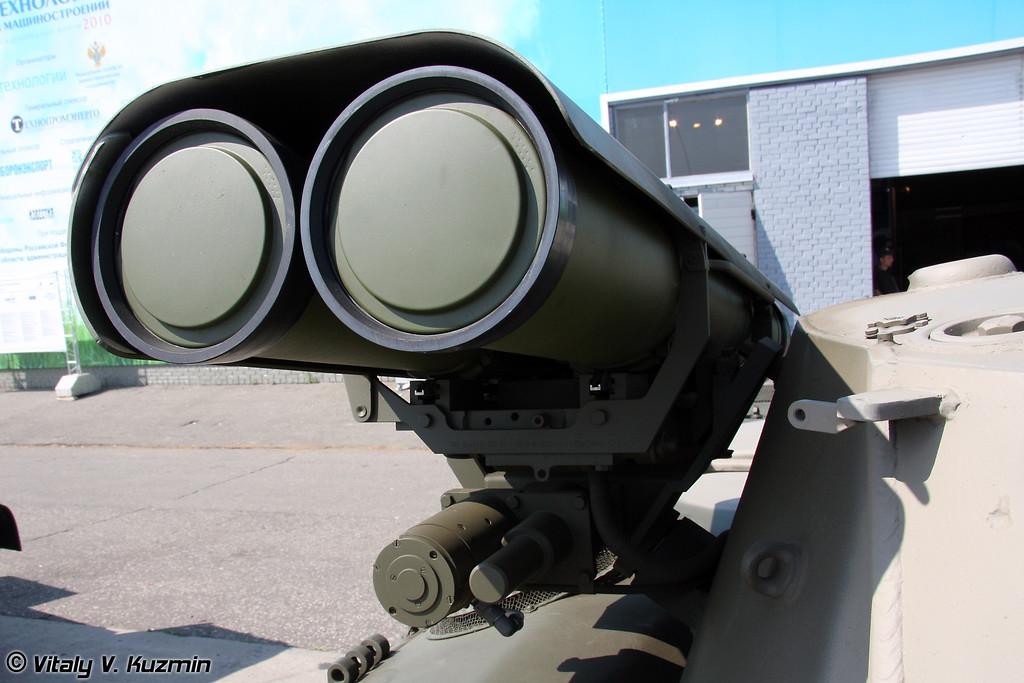 2 пусковые установки ПТУР 9М133 Корнет-Э (Two ATGMs Kornet-E)