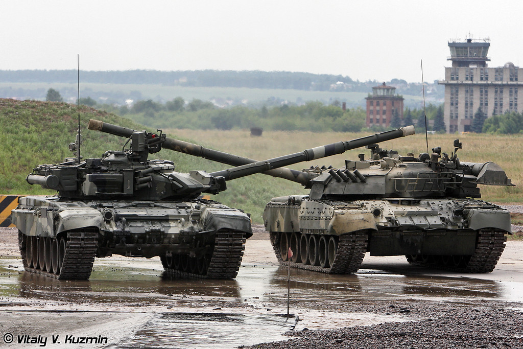 Т-80У и Т-90A (T-80U and T-90A)