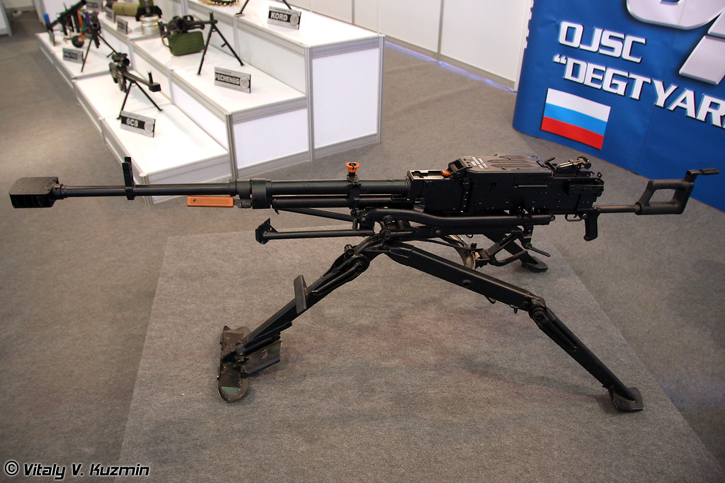 12,7 мм пулемет 6П60 на пехотном станке 6Т20 (6P60 12.7-mm machine-gun on infantry mount 6T20)