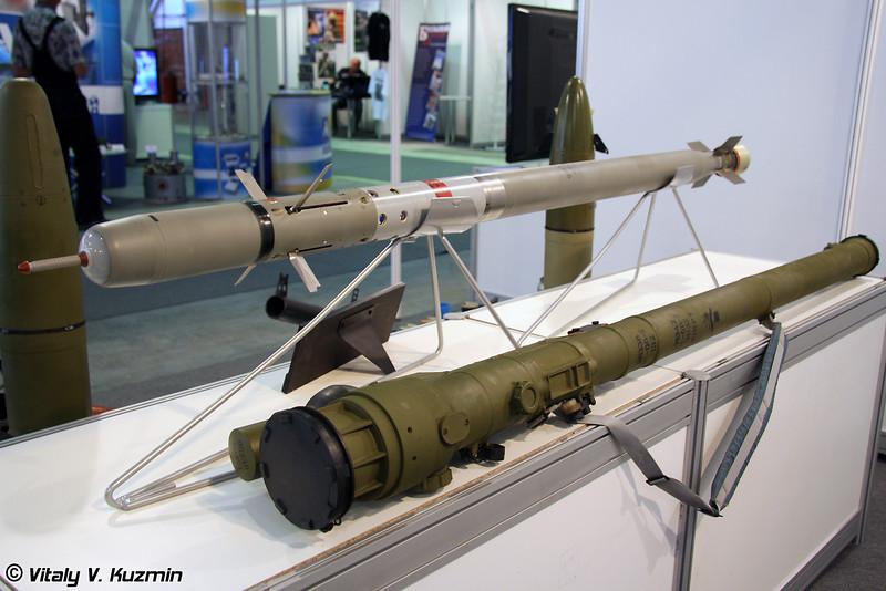 Зенитная управляемая ракета 9М342 ПЗРК Игла-С (Missile 9M342 of the portable anti-aircraft missile system Igla-S)
