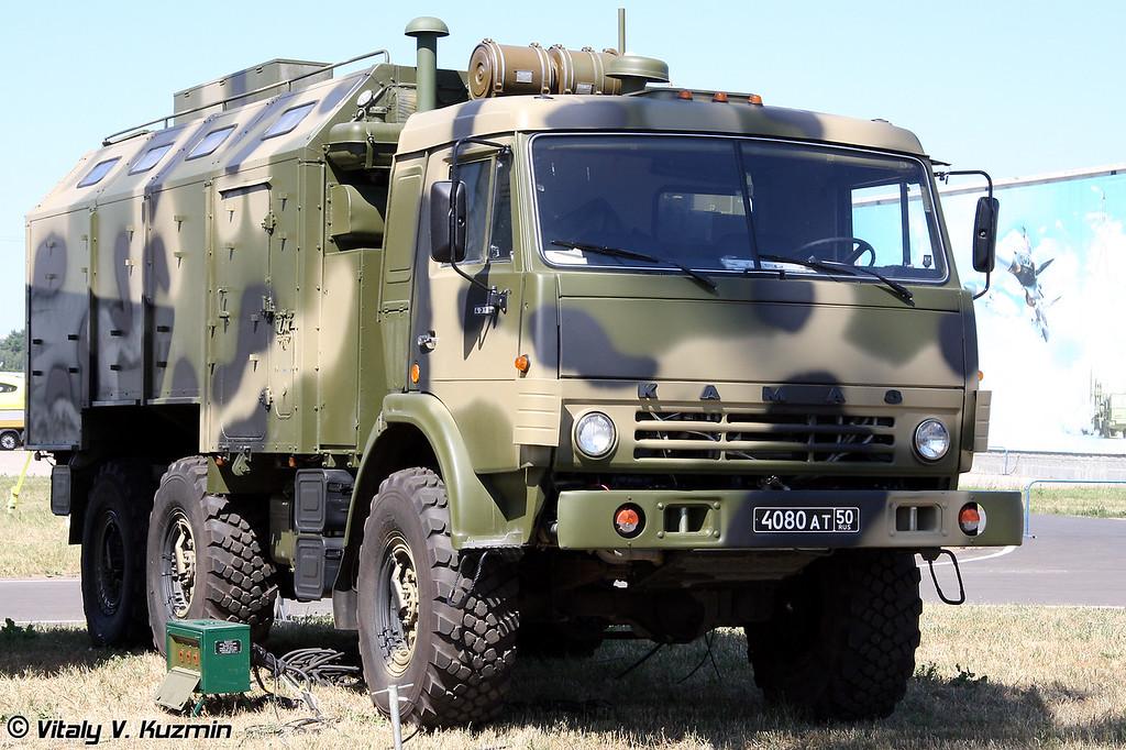 Автоматизированная подвижная единица, изделие 83т19-10.01 Э - предназначена для обеспечения работы руководящего состава подразделения (Automation mobile unit - command post. Article 83t19-10.01 E)