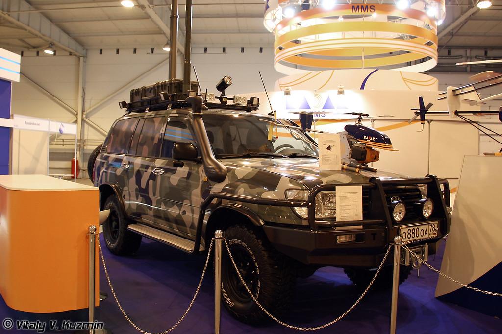 Наземная станция управления малогабаритными БЛА (UAV mobile control station)