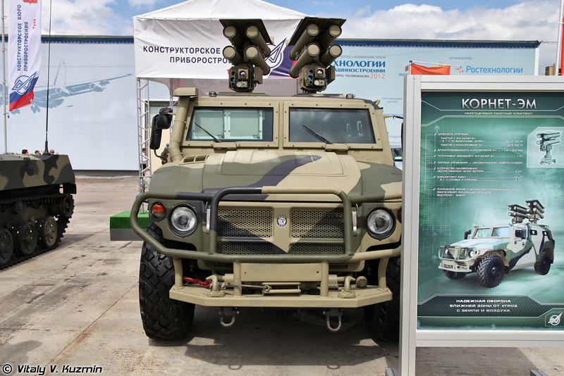 Противотанковый ракетный комплекс Корнет-ЭМ (Kornet-EM anti-tank missile system)
