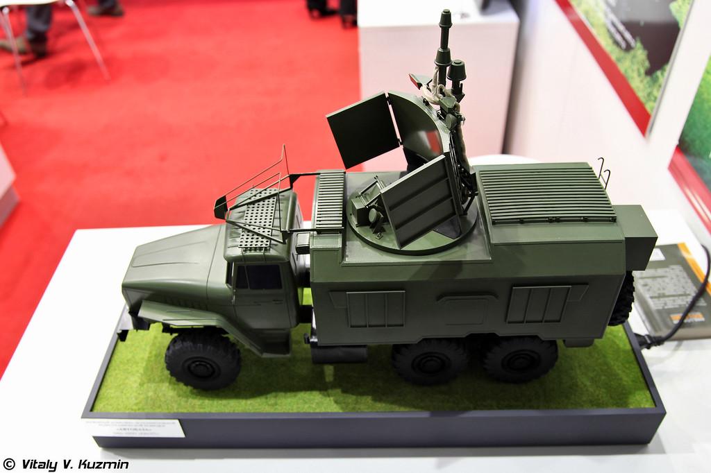 Модель наземного комплекса исполнительной радиотехнической разведки 1Л222 Автобаза (1L222 Avtobaza electronic intelligence and jamming system)