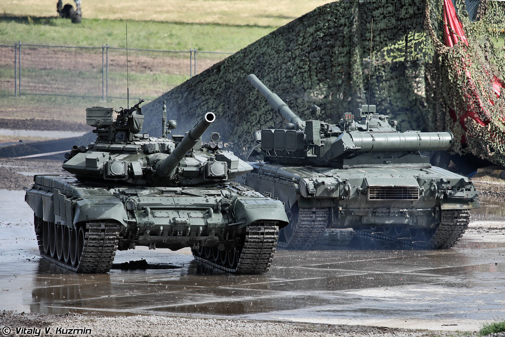 Танковый балет Т-90А и Т-80У (Tank ballet with T-90A and T-80U)