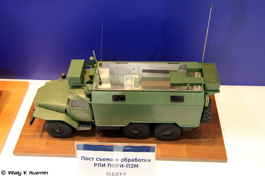 Модель поста съема и обработки РЛИ ПОРИ-П2М (Radar information receiving and processing vehicle from PORI-P2M system)