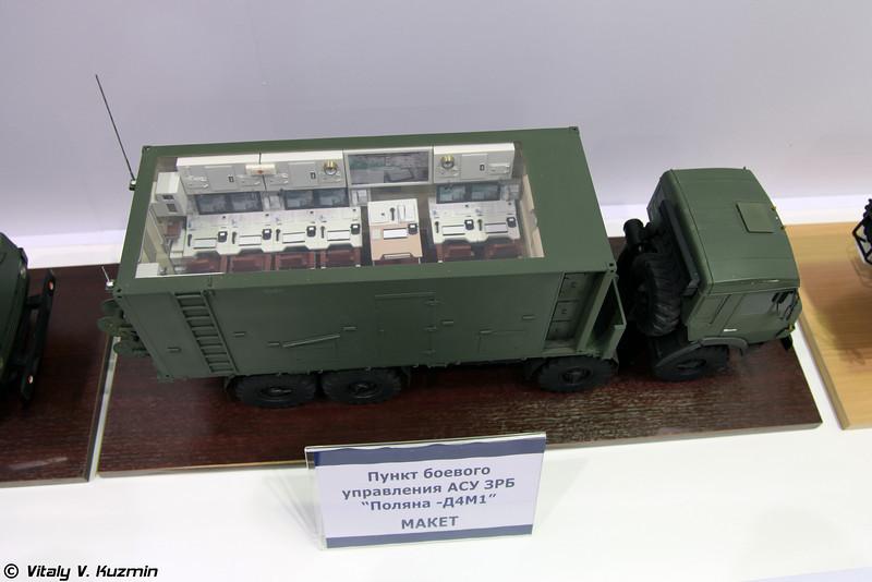 Модель пункта боевого управления АСУ Поляна-Д4М1 (Combat control post of Polyana-D4M1 system)