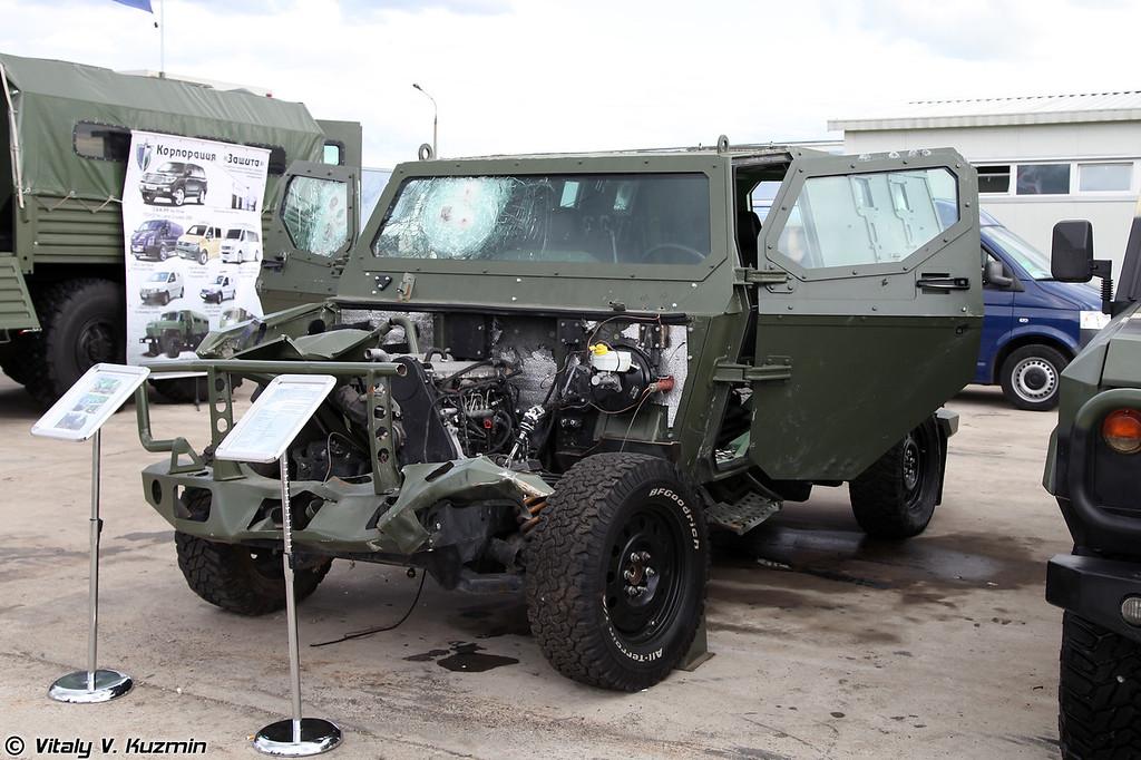 Результаты испытаний по обстрелу и подрыву бронеавтомобиля Скорпион ЛША Б (The results of explosives test of Skorpion-LShA B armored vehicle)