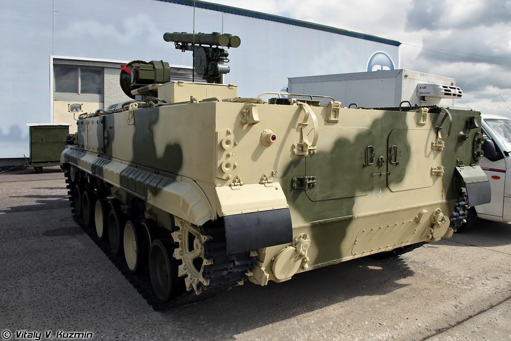 Боевая машина 9П157-2 из состава ПТРК Хризантема-С (Combat vehicle 9P157-2 for 9K123 Khrizantema-S anti-tank missile system)
