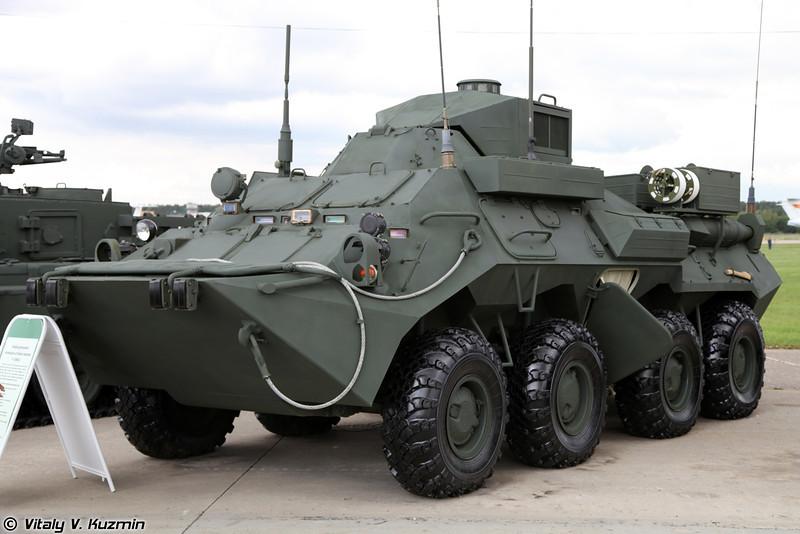 Унифицированная КШМ Р-149МА1 для обеспечения управления должностных лиц бригадного уровня (R-149MA1 command vehicle for brigade level)