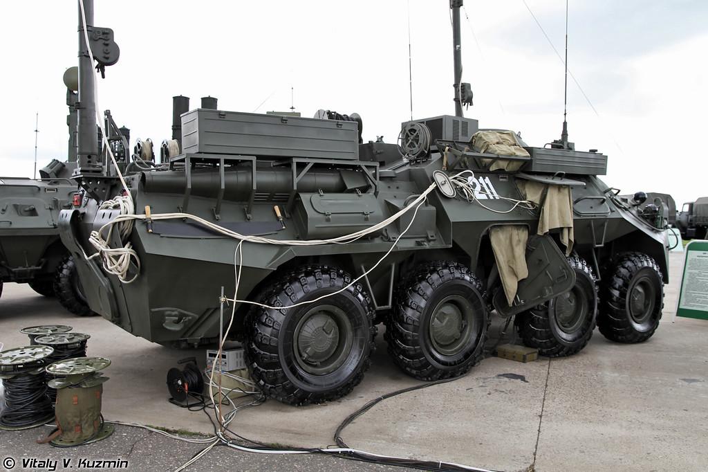 Аппаратная МП-1ИМЕ для развертывания сетей передачи данных на уровне батальона (MP-1IME signal vehicle for battalion level)