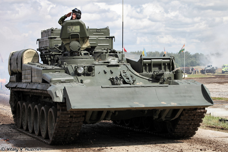 Бронированная ремонтно-эвакуационная машина БРЭМ-1 (Armoured recovery vehicle BREM-1)
