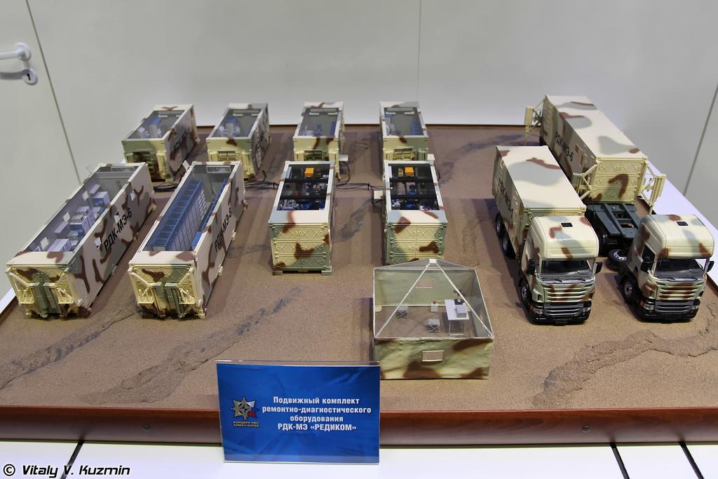 Модель подвижного комплекта ремонтно-диагностического оборудования РДК-МЭ Редиком (RDK-ME Redikom repair and diagnostics complex)