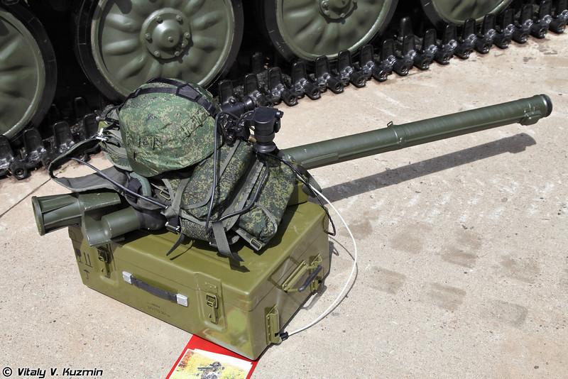 Комплекс средств автоматизации отделения стрелков-зенитчиков (КСАС) 9C935 из состава КСА Барнаул-Т (9S935 automation means complex for MANPADS squad from Barnaul-T air defence command system)