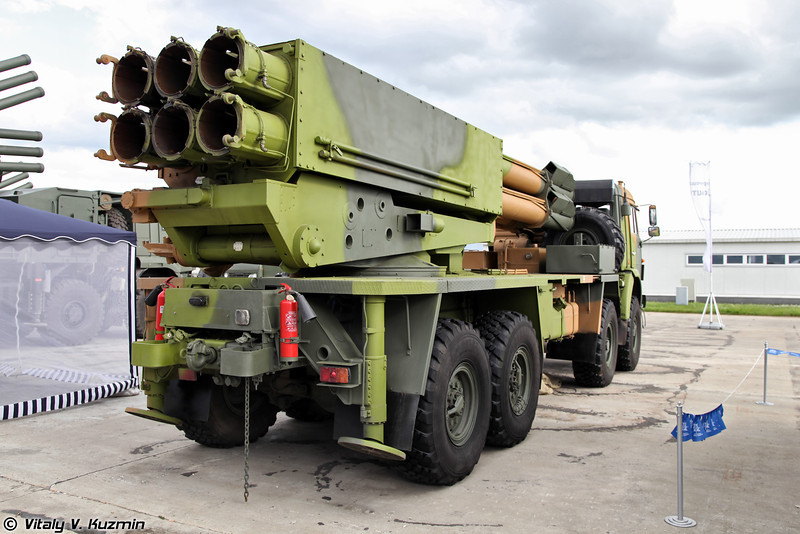 Боевая машина 9А52-4 РСЗО Смерч (Combat vehicle 9A52-4 Smerch MLRS)