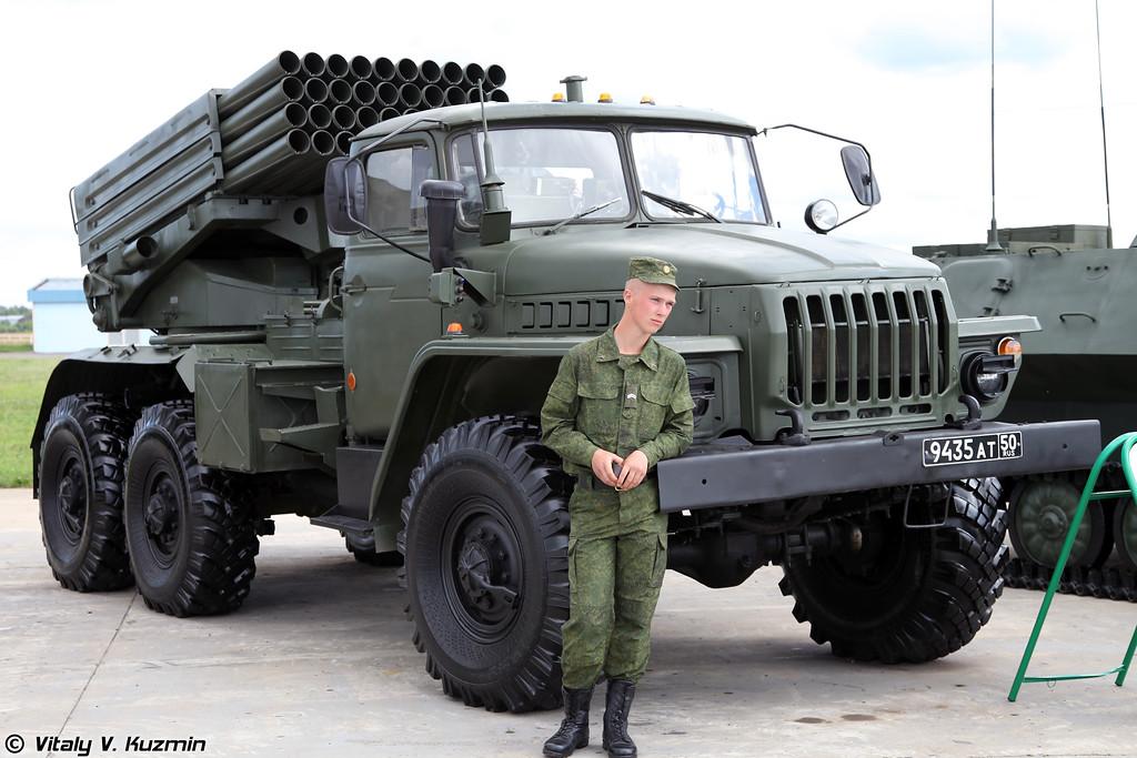 Боевая машина 2Б17-1 из состава опытной партии РСЗО Торнадо-Г (Combat vehicle 2B17-1 from testing batch of Tornado-G MLRS)