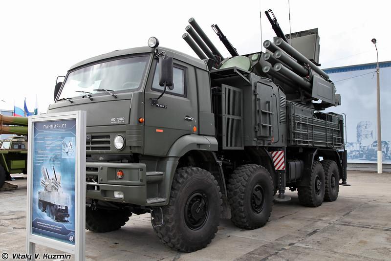 ЗРПК 96К6 Панцирь-С1 на колесном шасси (96K6 Pantsir-S1 on wheeled chassis)
