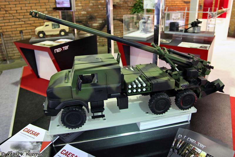 Модель 155-мм колесной самоходной артиллерийской установки CAESAR