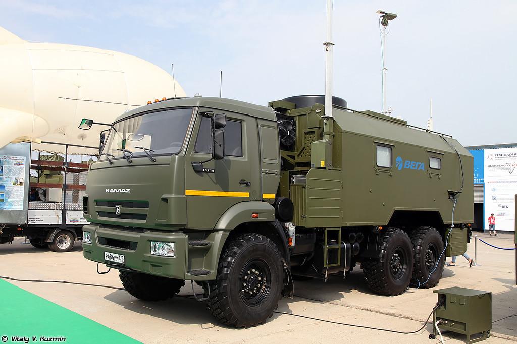 Унифицированный программно-аппаратный комплекс управления БПЛА на шасси КАМАЗ-43118 (UAV control post on KAMAZ-43118 chassis)
