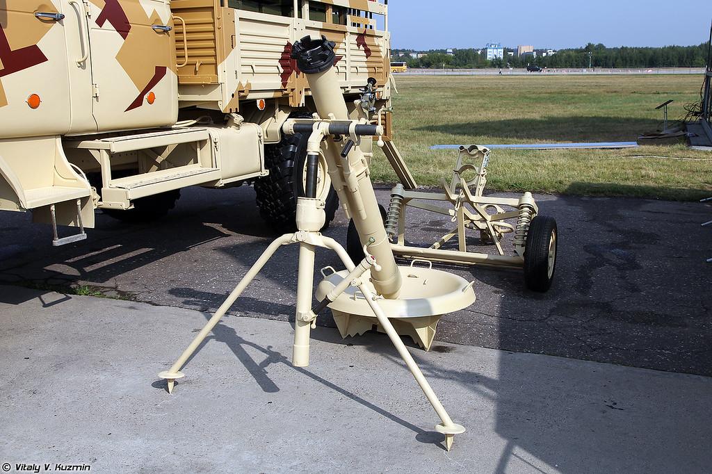 120-мм минометный комплекс 2С12 Сани с транспортной машиной 2Ф510 (120mm mortar 2S12 Sani with 2Ph510 carrier)