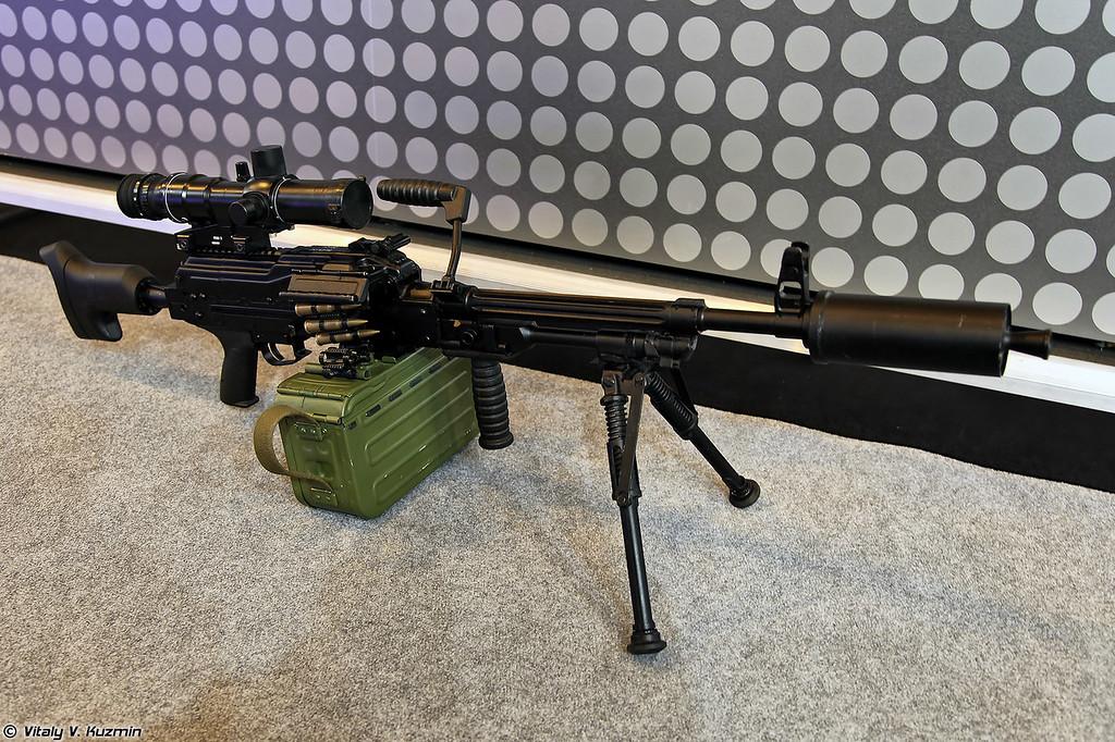 7,62-мм модернизированный пулемет 6П69 Печенег-СП (7.62mm machine gun 6P69 Pecheneg-SP)