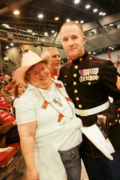 Gold Star Mother Penny George along with Wounded Warriors