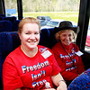 """Military supporter and founder of  <a href=""""http://www.proudtobeapatriot.com"""">http://www.proudtobeapatriot.com</a> Sherri Kennedy, and Lilija Grumulaitis"""
