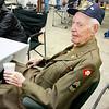 Monthly veteran breakfast provided by Vernon's Kuntry Katfish. WWII veteran Harding Boeker