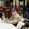 Monthly veteran breakfast provided by Vernon's Kuntry Katfish. WWII veteran Doug Stewart.