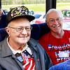 WWII veteran Clyde Miller and Vietnam veteran Robert Gill
