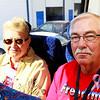 Military supporters Gloria and Vietnam veteran Robert Parker