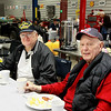 Monthly veteran breakfast provided by Vernon's Kuntry Katfish. WWII veterans Dave Hughes and Ernie Gaston
