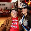 WWII veteran Roy Hughes and Ms. Houston Rodeo. Roy also served in Oklahoma's 45th infantry.