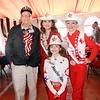 WWII Veteran Clyde Miller and the Rodeo Sweethearts. Clyde served in the 5307th Composite unit later known as the Merrill's Marauders. The Marauders suffered one of the most grueling horrific campaigns to destroy Japanese supply lines in Burma, walking over 1000 miles on foot to battle the enemy, battling sickness, hunger and being surrounded while many of their number were slaughtered.